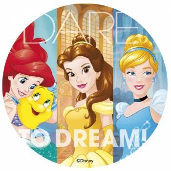 Disque en sucre Princesses Disney 20 cm