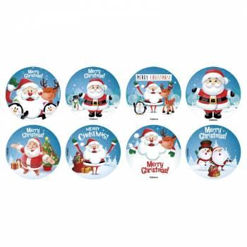 16 mini disques sucre Noël