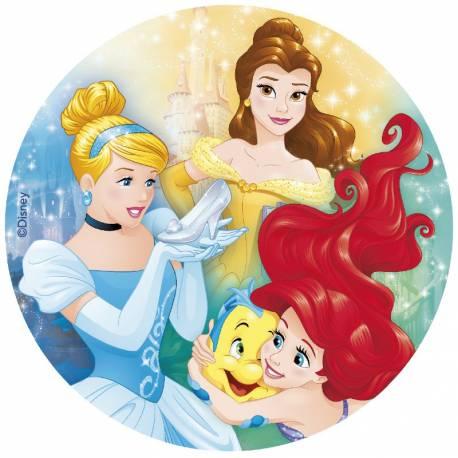 Disque azyme Princesse Disney pour la déco de vos gâteaux d'anniversaire. Simple et rapide à poser, le disque azyme conserve un goût...