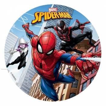 Disque en sucre 16cm Spiderman