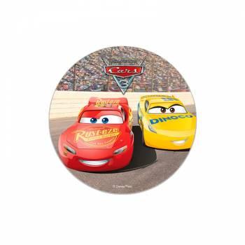 Disque en sucre 16cm Cars