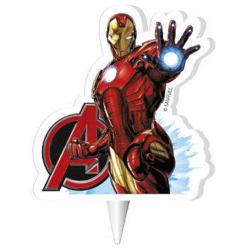 Bougie 2D Iron man