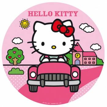 Disque en sucre 16cm Hello kitty