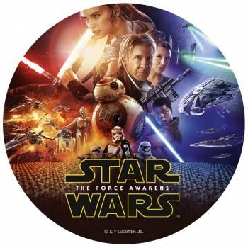 Disque en sucre Star Wars 20cm