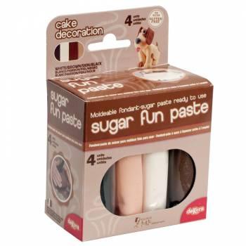 Pack 4 pâtes à sucre peau 400gr