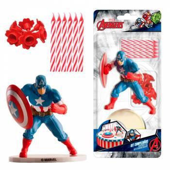 Kit deco de gâteau pvc Captain America