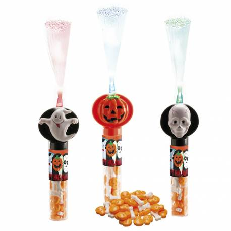 Distributeur de bonbons monstres d'Halloween avec fils lumineux idéal pour la récolte de bonbons le soir d'Halloween, les enfants vont...