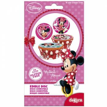 16 Mini disques en sucre Minnie