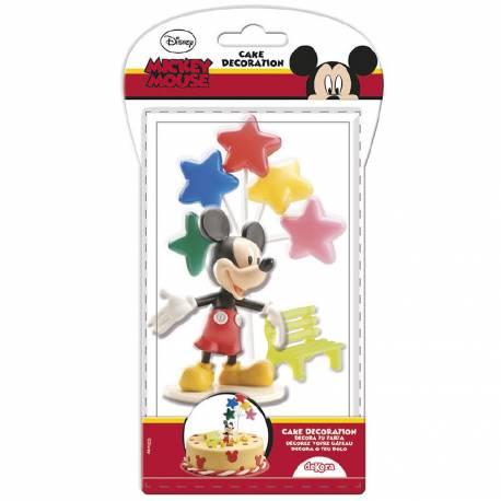 Kit figurine Mickey comprenant 3 décors en plastique pour faire une déco de gâteau d'anniversaire Mickey facilement. Contient : - 1...