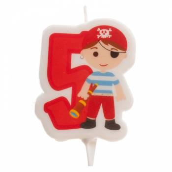 Bougie n°5 Pirate pour gateau