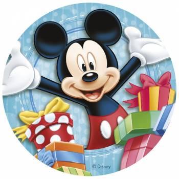 Disque en sucre Mickey Cadeau 20 cm