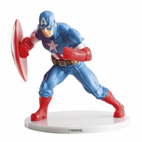 Figurine Captain America en plastique pour la décoration de vos gâteaux d'anniversaire Dimensions : 9 cm