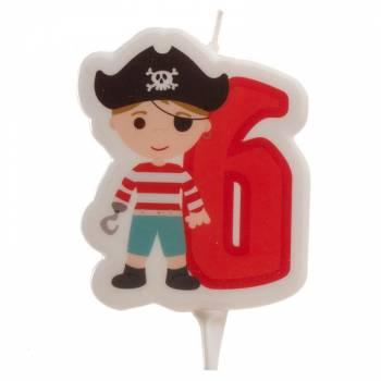 Bougie n°6 Pirate pour gateau
