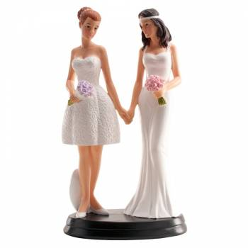 Figurine Mariés Romantique gay fille 20 cm