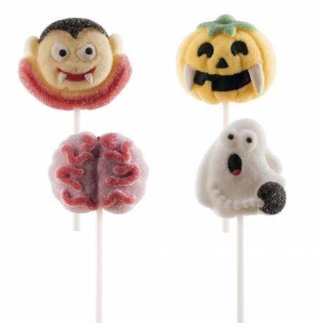 4 Sucettes marshmallow Halloween