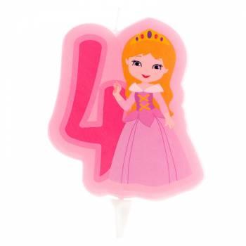 Bougie n°4 Princesse pour gâteau