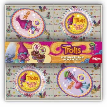 Kit déco cupcakes Trolls