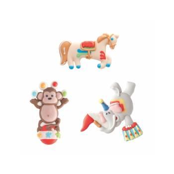 Lot 6 personnages en sucre 2D Cirque