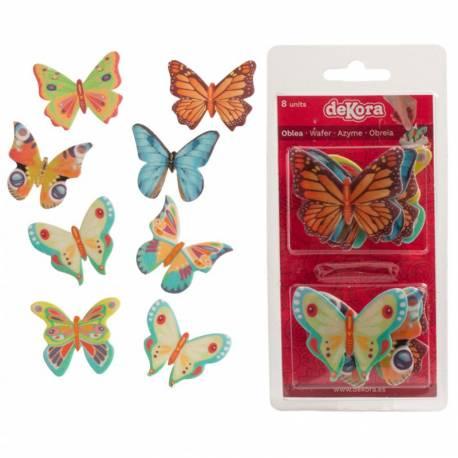 8 Papillons en azyme pour décorer vos gâteaux