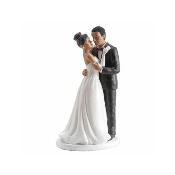 Figurine Mariés Black Love 16 cm