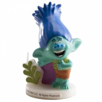 Bougie Trolls Branch 3D pour gateau