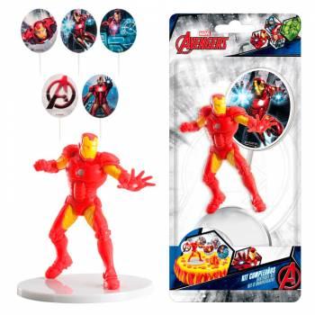 Kit deco de gâteau pvc Avengers Iron man