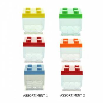 3 boîtes cubes couleur
