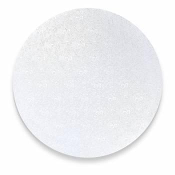 Semelle à gâteau ronde argentée 4 mm