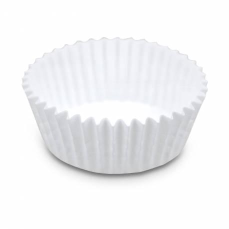 Lot de 200 caissettes en papier prévu pour la cuisson Dimensions des petites caissettes: Ø 3.5 cm x H 2.2 cm