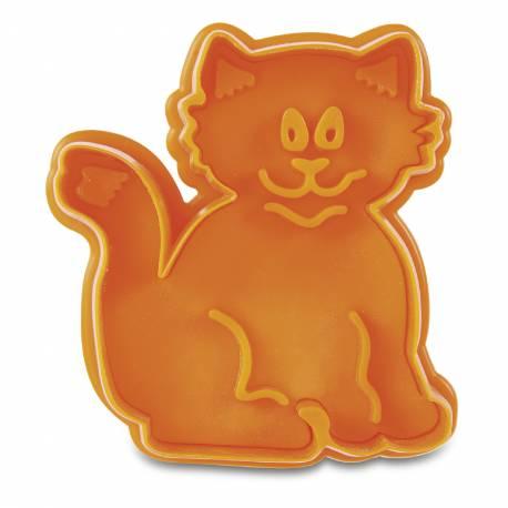 Emporte pièce empreinte chat pour créer vos deco de gâteau en pâte à sucre et vos biscuits. Dim : 5.5cm x 6cm