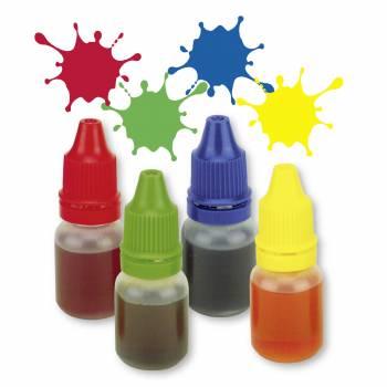 4 Colorants liquide alimentaire bleu, jaune, vert et rouge