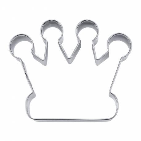 Emporte pièce en forme de couronne pour créer vos deco de gâteau en pâte à sucre et vos biscuits. Dimension: 7.5 cm