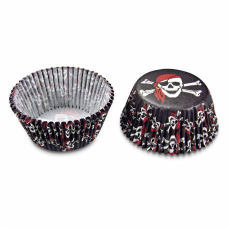 Caissettes à cupcakes et muffins pirate en papier pour l'anniversaire de votre enfantGrandes caissettes cupcakes : sachet de 50...