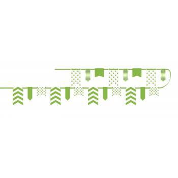 Guirlande fanions assortis verte