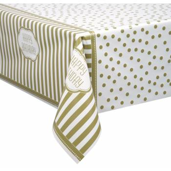 Nappe plastique golden birthday