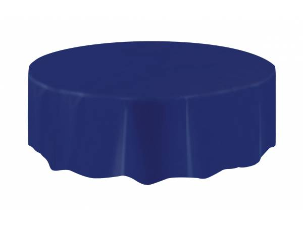 nappe ronde en plastique bleu marine thema deco. Black Bedroom Furniture Sets. Home Design Ideas