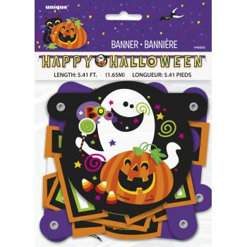 Banderole Happy Halloween Happy Monstres