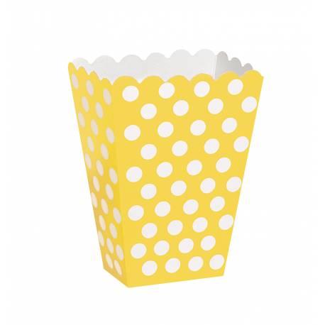 Paquet de 8 boîtes Pop Corn individuelle (13.5 cm de hauteur, 14.5 cm de large, et 6 cm pour le soufflet)