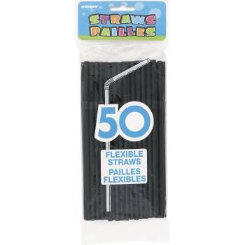 50 pailles noires