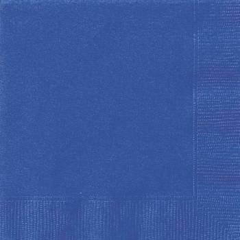 20 Serviettes papier bleu royal