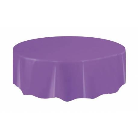 Nappe ronde en plastique couleur violette claire A usage éphèmère Ø 213 cm