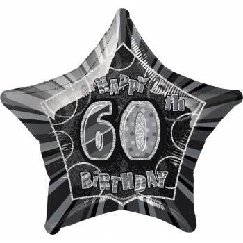 Ballon star noir 60 ans
