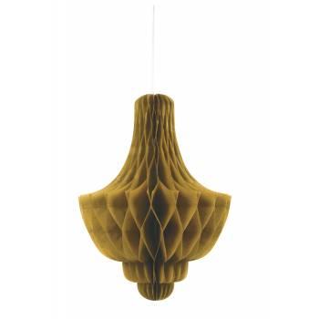 Suspension chandelier papier OR