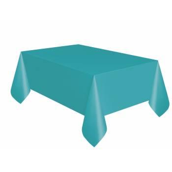 Nappe en plastique turquoise