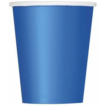 14 Gobelets carton bleu royal