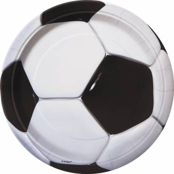 8 assiettes Ballons de foot