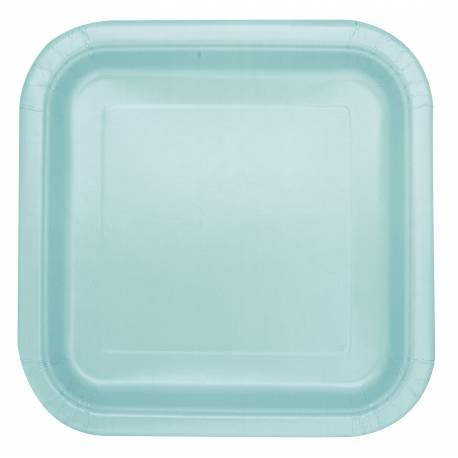 Paquet de 14 assiettes en carton mint Dimensions: 23 cm x 23 cm