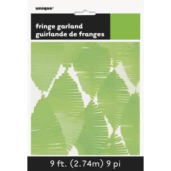 Guirlande frange en papier vert anis