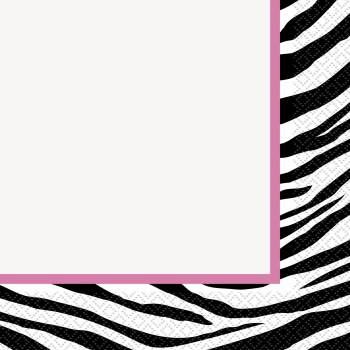 16 Serviette Zebra passion