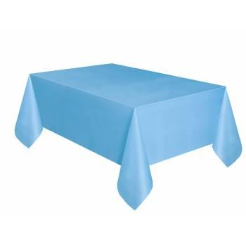 Nappe en plastique bleu ciel